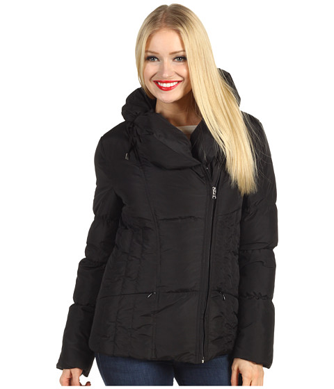Jachete Jessica Simpson - Short Asymmetrical Zip Down Jacket - Black