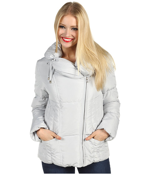 Jachete Jessica Simpson - Short Asymmetrical Zip Down Jacket - Light Grey