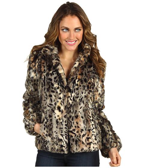 Jachete Anne Klein - Leopard Print Faux Fur Coat - Multi