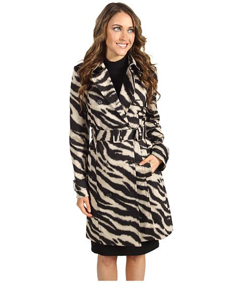 Jachete Anne Klein - Zebra Print Trench Coat - Champagne Multi
