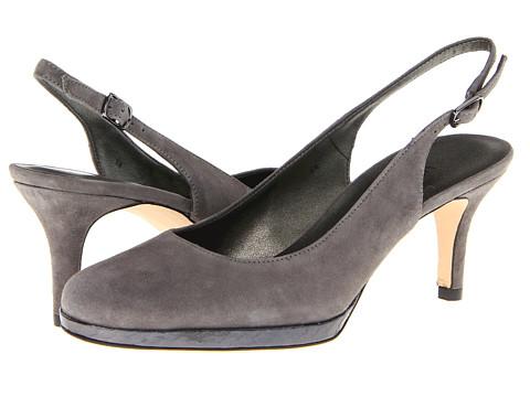Pantofi Vaneli - Faby - Dark Grey Suede/Pewter Metallic Whips