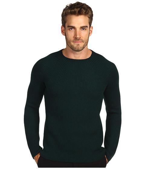 Bluze Costume National - Uncut Round Collar Sweater - Dark Green
