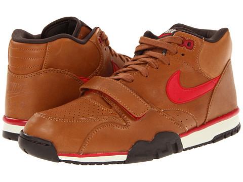 Adidasi Nike - Air Trainer 1 Mid Premium - Hazelnut/Baroque Brown/Birch/Gym Red