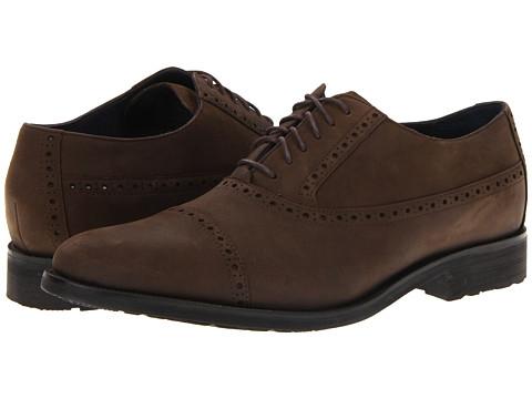 Pantofi Cole Haan - Air Stanton Cap Ox - Dark Brown Waterproof