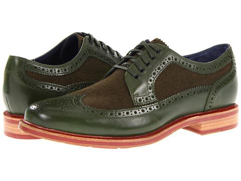 Pantofi Cole Haan - Cooper Square Wingtip - Military/Military Wool