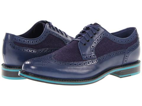 Pantofi Cole Haan - Cooper Square Wingtip - Navy/Navy Wool