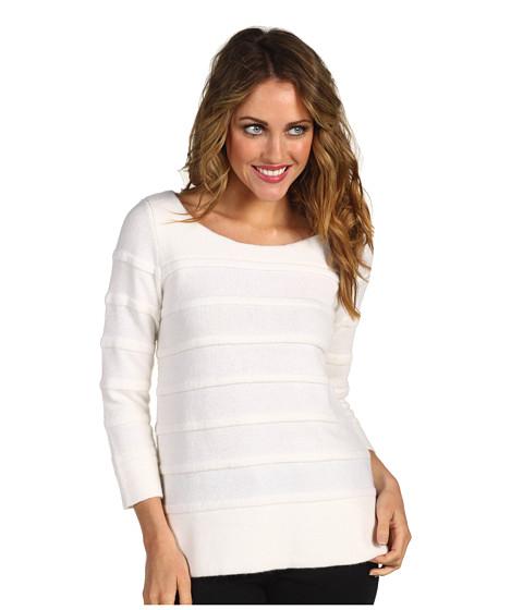 Bluze Lacoste - L/S Boatneck Mohair Rib Sweater - Cake Flour White