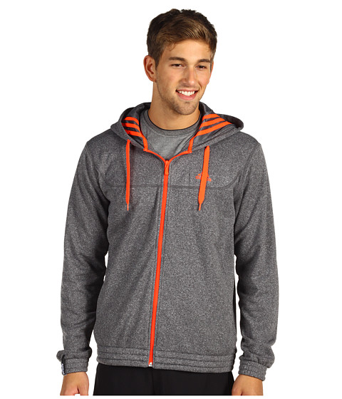 Bluze adidas - Full-Zip Fleece Hoodie - Sharp Grey/Infrared
