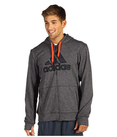 Bluze adidas - Ultimate Tech Full-Zip Hoodie - Dark Shale/Infrared