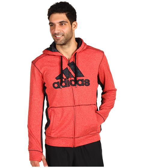 Bluze adidas - Ultimate Tech Full-Zip Hoodie - Light Scarlet