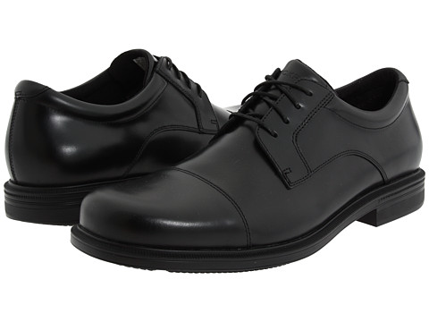Pantofi Rockport - Editorial Office - Captoe - Black Leather