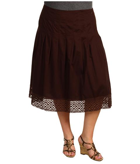 """Fuste Jones New York - Plus Size Full Skirt 28\"""" - Root Beer"""