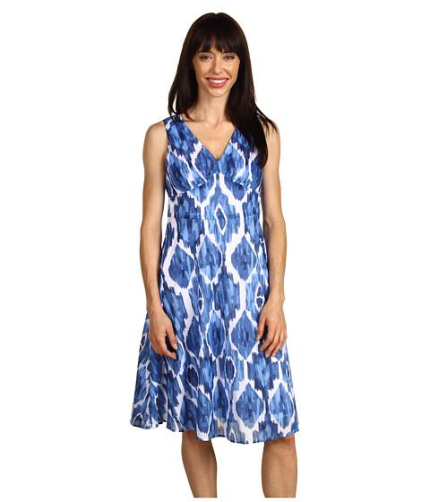 """Rochii Jones New York - Petite Sleeveless Dress 26\"""" From Waist - Bluestone Multi"""