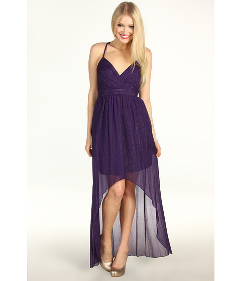 Rochii Max and Cleo - Sophia High-Low Gown - Deep Eggplant
