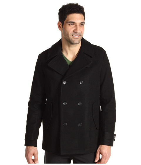 Jachete Calvin Klein - Melton Wool Basic Peacoat - Black