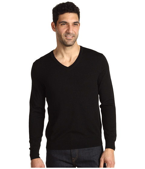Tricouri Calvin Klein - Tipped Merino V-Neck - Black