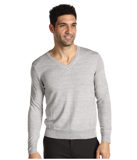 Tricouri Calvin Klein - Tipped Merino V-Neck - Shaker Grey