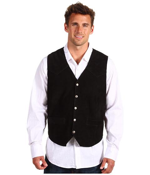 Jachete Roper - Suede Vest with Front Yokes - Black