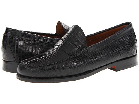 Pantofi Bass - Larson 3 - Black Lizard Leather