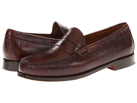 Pantofi Bass - Larson 3 - Brown Lizard Leather