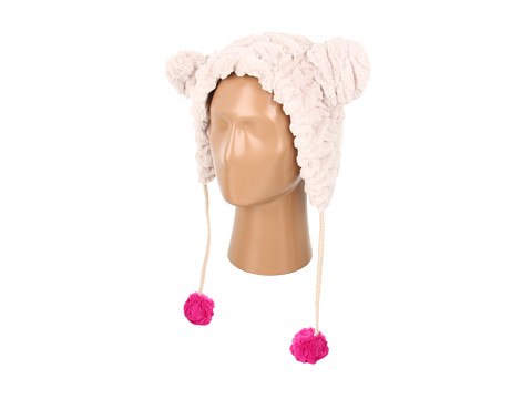 Palarii Betsey Johnson - Groovy Faux Fur Critter Hat - Cream