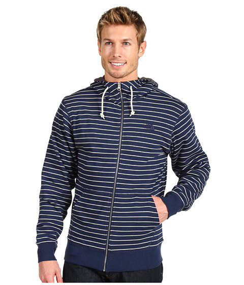 Bluze The North Face - Striped Tanmanmac Full Zip Hoodie - Deep Water Blue/Vintage White