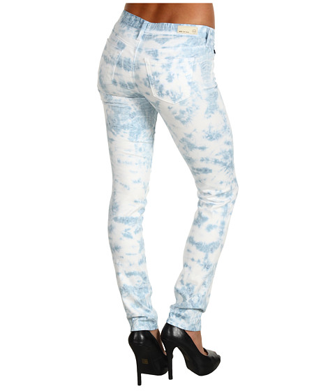 Blugi AG Adriano Goldschmied - Stilt Cigarette Leg Stretch Sateen - Tie Dye Ice Blue