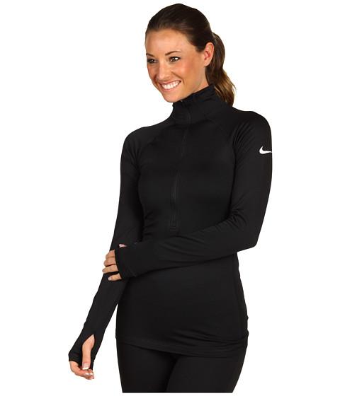 Bluze Nike - Nike Pro Hyperwarm II Fitted Half-Zip - Black/White
