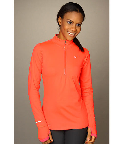 Bluze Nike - Element Half-Zip - Bright Crimson/Pink Clay/ Reflective Silver