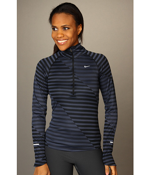 Tricouri Nike - Nike Element Jacquard HZ - Black/Thunder Blue/Reflective Silver
