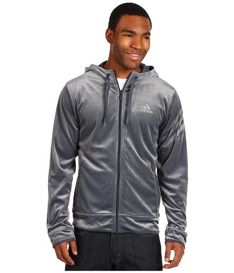 Bluze adidas - Velour Jacket - Dark Onix