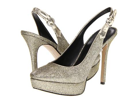 Pantofi Nine West - Faithfully - Black/Gold Synthetic Fabric