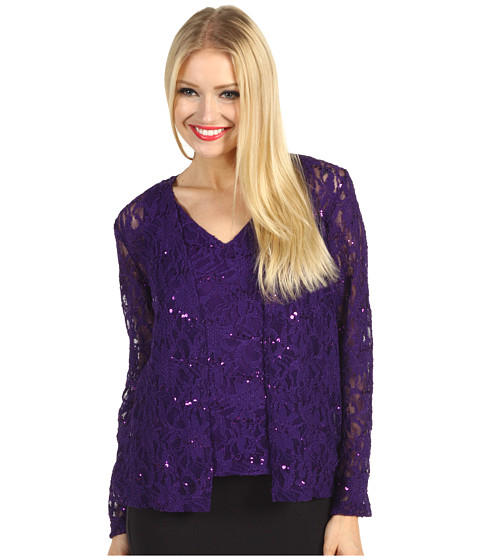 Bluze rsvp - Laila Sequin Tank and Cardigan - Purple