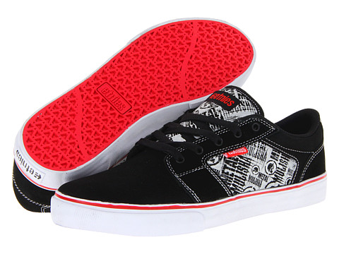 Adidasi etnies - Barge LS x Metal Mulisha - Black/White/Red (Suede/Waxoff/Synthetic)