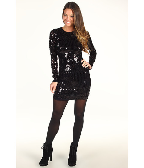 Rochii French Connection - Lust Sequin Sheath Dress - Black
