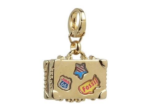 Bijuterii Fossil - Vintage Suitcase Charm - 12K Shiny Gold