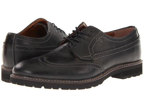 Pantofi Bass - Edan - Black/Grey Vintage Buck