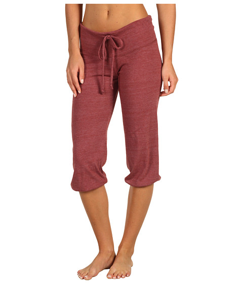 Pantaloni Alternative Apparel - Eco-Heather Crop Pant - Eco True Burgundy
