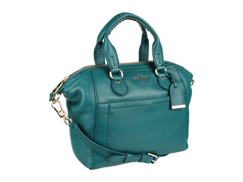 Genti de umar Cole Haan - Linley Leather Small Structured Satchel - Dark Teal