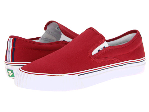 Adidasi PF Flyers - Center Slip-On - Red Canvas