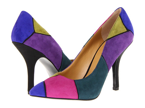 Pantofi Nine West - BoogieDown - Blue Multi Suede