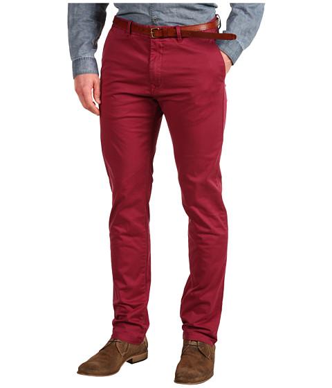 Pantaloni Scotch & Soda - Bowie Slim Fit Garment Dye Chino Pant with Belt - Deep Blush