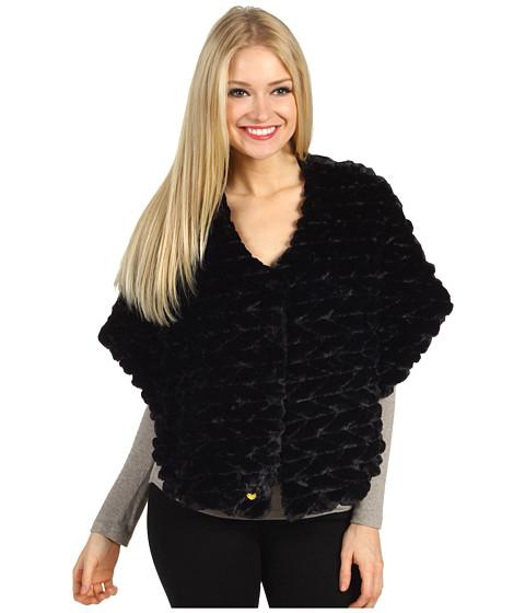 Jachete Betsey Johnson - Groovy Fur Snap Closure Caplet - Black