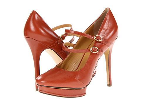 Pantofi Nine West - Argile - Cognac Leather