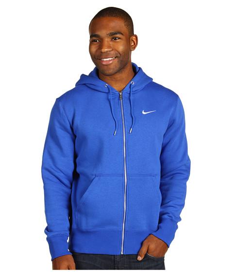 Bluze Nike - Classic Fleece Full-Zip Hoodie - Game Royal/Dark Grey Heather/White