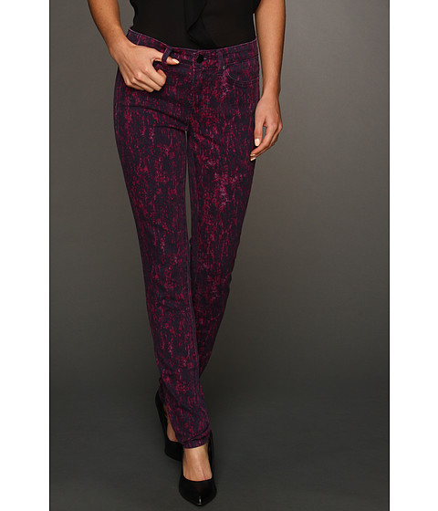 Blugi Calvin Klein - Knit Lace Print Denim in Deep Fuchsia - Deep Fuchsia