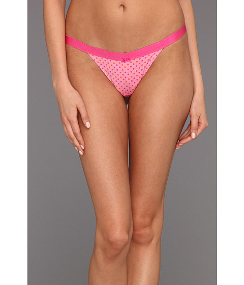 Lenjerie Betsey Johnson - Microfiber Everyday Thong - On The Spot Pink Cheeks