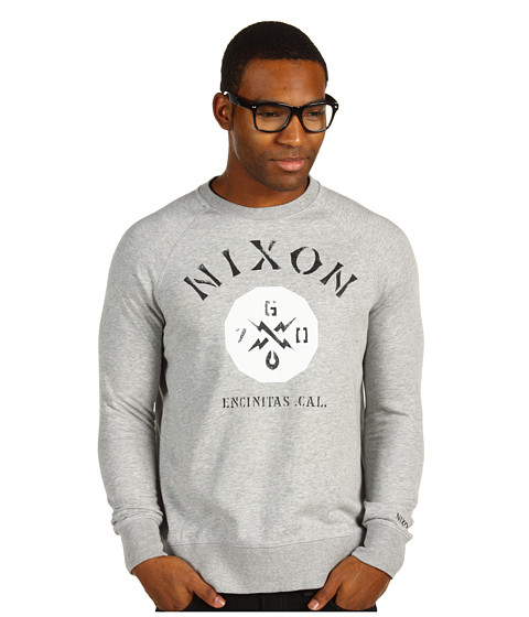 Bluze Nixon - Series Crew Sweater - Heather Grey