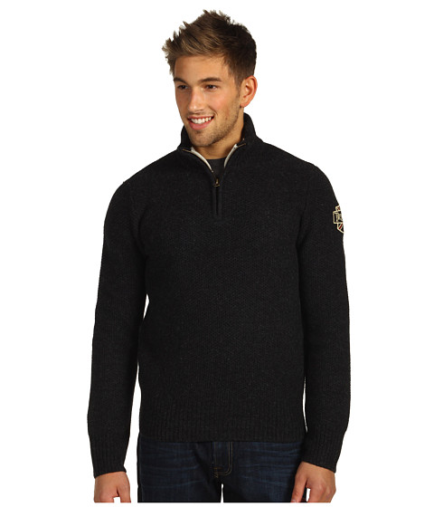 Bluze Lucky Brand - Triumph Half-Zip Sweater - Charcoal