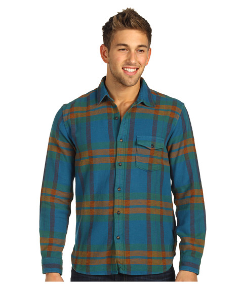 Bluze Lucky Brand - Nomad Plaid One-Pocket Shirt - Teal